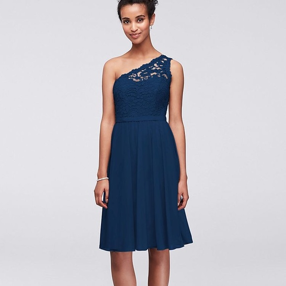Navy Lace Bridesmaid Dress